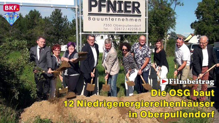 Die OSG baut 12 neue Niedrigenergiereihenhäuser in Oberpullendorf