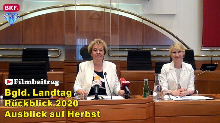 Bgld. Landtag – Bilanz der Tagung 2020 und Ausblick auf geplante Projekte