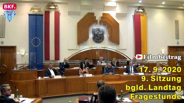 9. Sitzung bgld. Landtag – Fragestunde