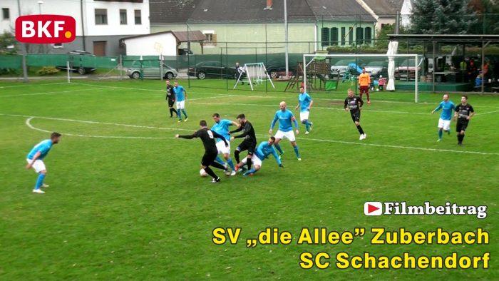 """Fußball SV """"die Allee"""" Zuberbach : SC Schachendorf, 2. Klasse Süd B"""