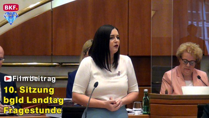 10. Sitzung bgld. Landtag – Fragestunde