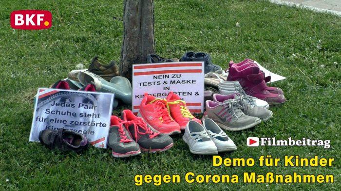 Demo für Kinder, gegen Corona Maßnahmen