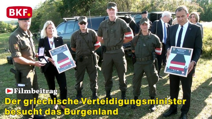 Griechischer Verteidigungsminister besucht das Burgenland