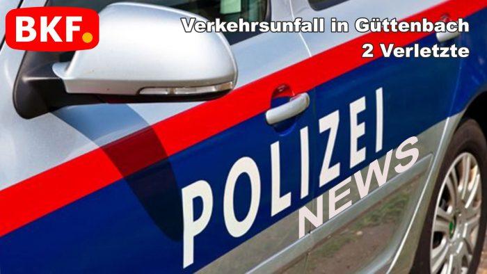 Verkehrsunfall mit zwei Verletzten in Güttenbach